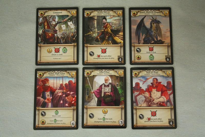 Hero Realms - yellow cards