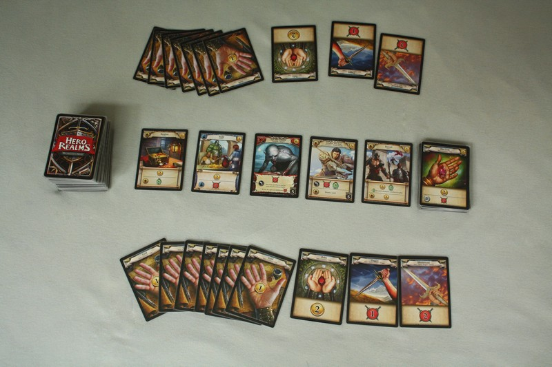 Hero Realms - game is ready for 2 players