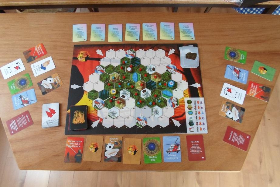 Lesní požár - rozehraná hra