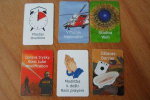 Lesní požár - karty