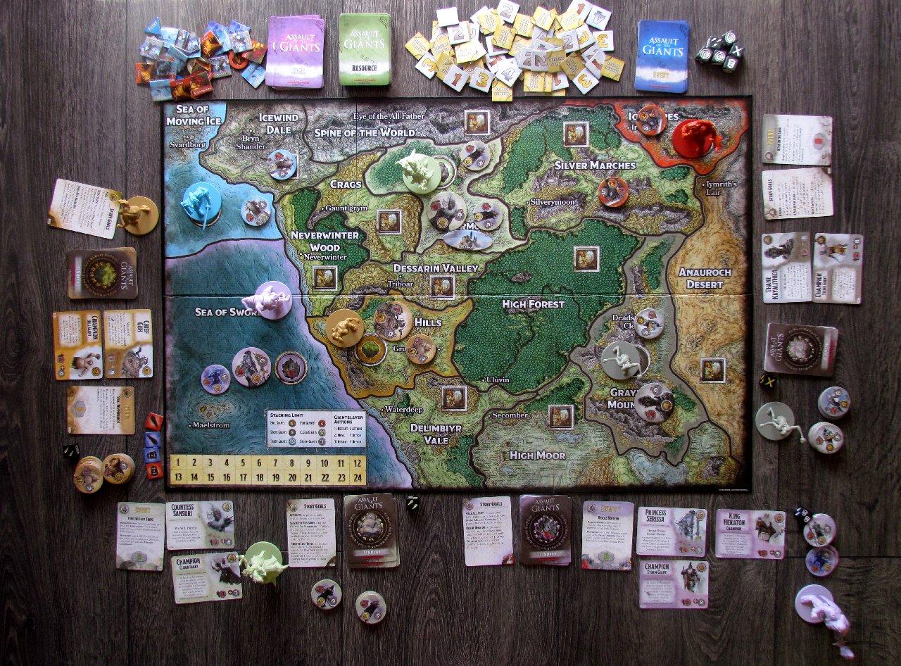 Assault of the Giants Board Game | WizKids