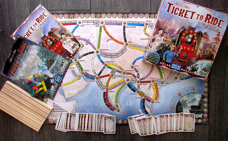 Map Of Asia Review Game.Review Ticket To Ride Asia Building Is A Team Sport Deskovehry
