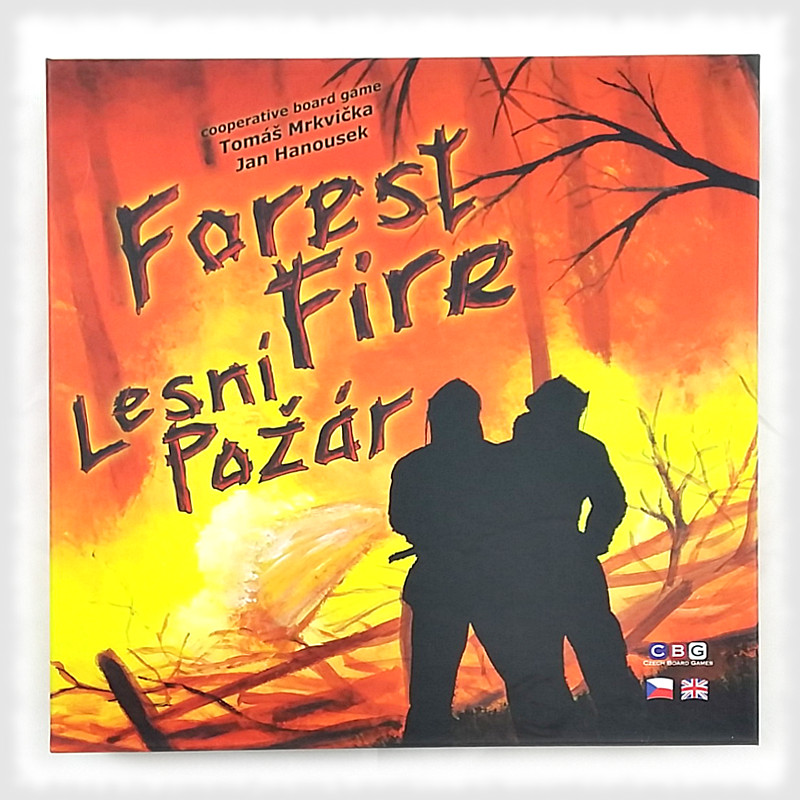 lesní požár krabice